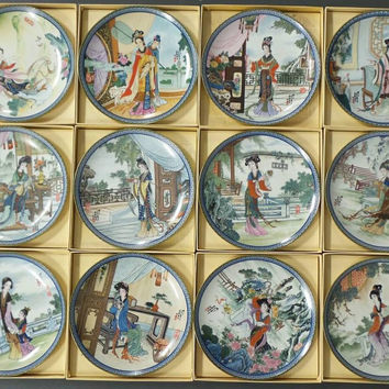 "The Bradford Exchange ""Beauties of the Red Mansion"" (Complete 12 Plate Collection)"