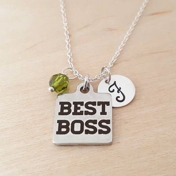 Best Boss - Boss Gift - Personalized Sterling Silver Necklace