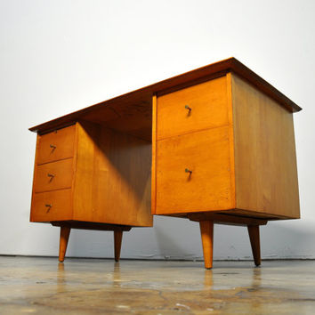 Mid Century Paul Mccobb Desk For Planner Group Winchendon Furniture 1950s Danish Modern Vintage