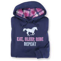 Eat Sleep Ride Repeat Hoodie - Western Wear, Equestrian Inspired Clothing, Jewelry, Home Décor, Gifts