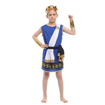 ESB6F kids Boys Ancient Greek mythology Zeus cosplay Fantasia Halloween Olympus God Costume Children King Carnival Masquerade Dress