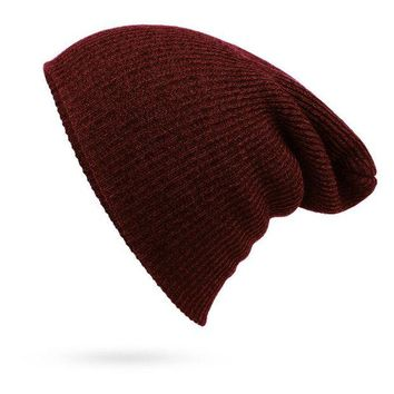 LMFON Perfect Fashion Stripe Crochet Women Men Beanies Winter Knit Hat Cap