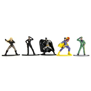 Jada Nano Figures DC Wave 2- 5 Pack A- Batman Batgirl Riddler Cat Woman Black Canary