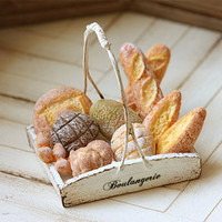 Miniature Food  Dollhouse Assorted Breads by miniaturepatisserie