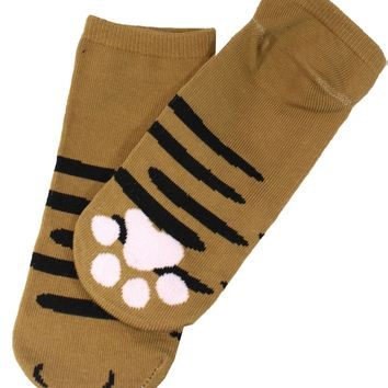 I'm A Brown Cat Cute Cat Paw Socks (Brown)
