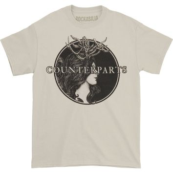 Counterparts Men's  Antlers T-shirt White