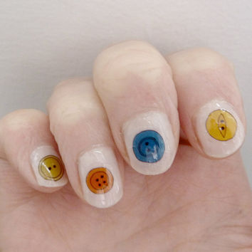 button nail stickers