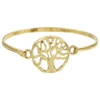 Tree of Life Medallion Bangle - 3 Colors
