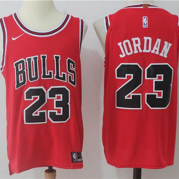 Best Deal Online NBA Authentic Basketball Player Jerseys Chicago Bulls  # 23 Michael Jordan Red