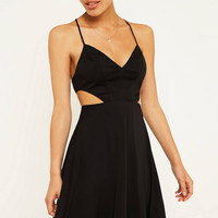 UO Margarita Black Cut-Out Mini Dress | Urban Outfitters