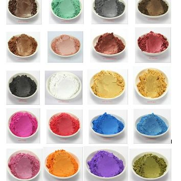 Mica powder for Soap Making - 100 grams – 20 colors - Hand Soap Making Supplies - Resin Dye - Mica Powder Organic for Soap Molds - Bath Bomb Dye Colorant – Makeup Dye