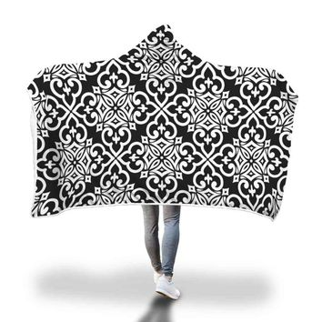 Boho Black Hooded Blanket by Bare Culture Apparel