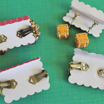 Midcentury Essential Earrings Collection (4x clip-ons)