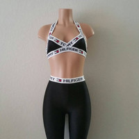 Restructured Tommy Hilfiger Set Bralette w/ Leggings