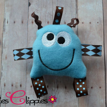 Baby Boy Blue Taggie - Blue Lovie - Taggie Monster - Sensory Toy