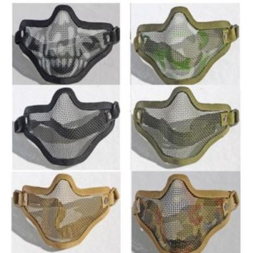 outdoor protection half-face wire protector field operation sport mask