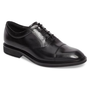 Ecco Men's Black Vitrus Ii Cap Toe Oxford, Size 44EU