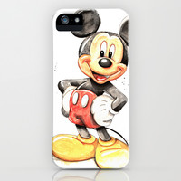 Mickey Mouse iPhone & iPod Case by digiartpicture