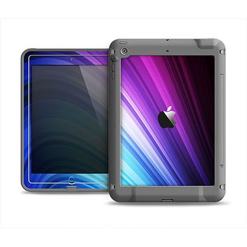 The Pink and Blue Glowing Neon Wave Apple iPad Air LifeProof Fre Case Skin Set