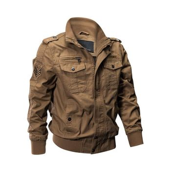 Trendy MORUANCLE Mens Casual Cargo Jackets Military Style Flight Bomber Jacket And Coat For Man Outerwear Plus Size M-5XL Stand Collar AT_94_13