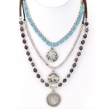 Antique Coins Layered Necklace