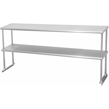 "Stainless Steel Double Overshelf 12"" x 27"""