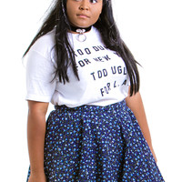Vintage Blue Bell Mini Skirt - XL/2X