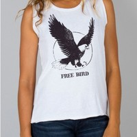 Junk Food Clothing - Free Bird Muscle Tank