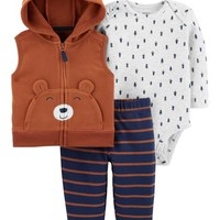 3-Piece Bear Little Vest Set