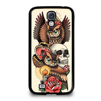 OWL STEAMPUNK ILLUMINATI TATTOO Samsung Galaxy S4 Case Cover