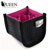 Professional Makeup Brush Cosmetic Beauty Make up  set  Leather Case bag