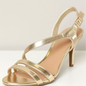 Low Strappy Heel Gold