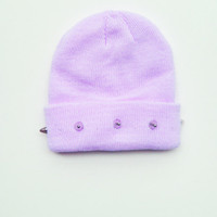 Studded Beanie - Purple  Beanie - Pastel Hat - Kawaii - Grunge - ALL SIZES