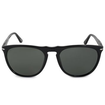 Persol Round Sunglasses PO3114S 95 58 56 POL | Black Frame | Polarized Grey Lenses
