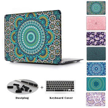 Fashion Clear Moroccan Pattern Cover Case for Apple MacBook Air 11 13 Pro Retina 13 15 New 12 inch Printed Hard Protective Shell