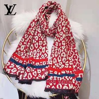 Louis vuitton selling casual women's leopard-print pashmina scarves
