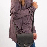Kayla Tassel Crossbody Bag - Black