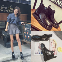 Hot Deal On Sale Flat Dr. Martens Korean England Style Boots [9122254215]