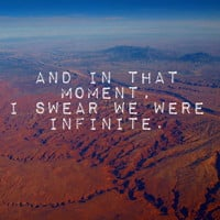 And in That Moment, I Swear We Were Infinite Art Print by Josrick   Society6