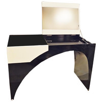 A Vanity in Lacquer & White Leather by Marie-Christine Dorner for Hotel La Villa