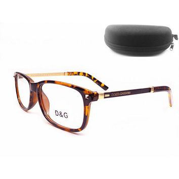 ONETOW Perfect D&G Women Edgy Optical Clear Lens Fashion Brand Designer Eyeglasses Glasses