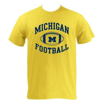 Michigan Football Tee - Maize