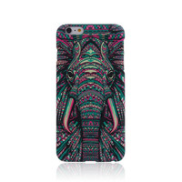 Elephant Animal Handmade Carving Luminous Light Up iPhone Cases for 5S 6 6S Plus Free Shipping