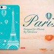 iPhone 5c Case Paris,iPhone 5s Eiffel Tower Case, teal iPhone 5 case with swarovski elements,mint iPhone 4 case.Case for iPhone 4/4S/5/5S/5C