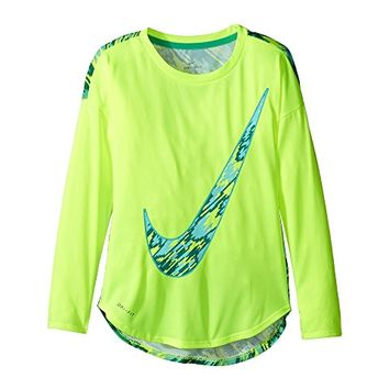 Nike Kids Dri-FIT Modern Long Sleeve Graphic Top (Little Kids)