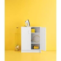 2-Door Stackable Storage Cabinet - White - Room Essentials™
