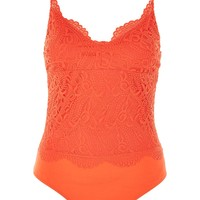 Lace Scallop Bodysuit - New In Fashion - New In