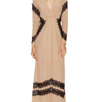 Goddess Lace Trim Maxi Dress