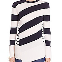 Alexander McQueen - Striped Wool Crewneck Sweater - Saks Fifth Avenue Mobile