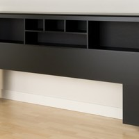 Black King Bookcase Headboard